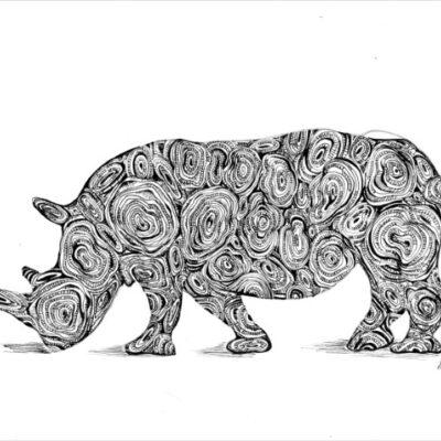 sarah boulton blue velvet rhino