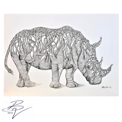 sarah boulton blue velvet tangle tree rhino